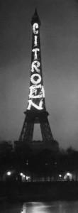 Publicité Citroën sur la Tour Eiffel