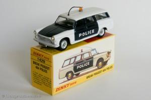 Peugeot 404 break police - Dinky Toys