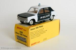 Simca 1100 police - Dinky Toys