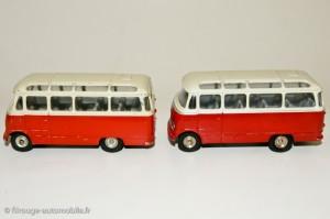 Autocar Mercedes, rouge orangé et rouge - Dinky Toys