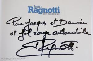 Dédicace de J. Ragnotti