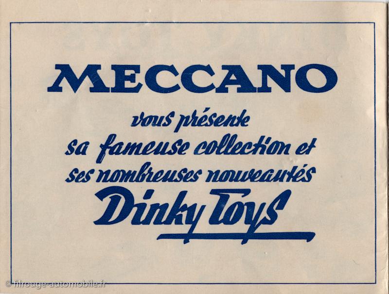 catalogue Dinky Toys 1952