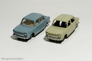 Dinky Toys 104 et 519 - Simca 1000 berline