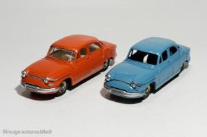 Dinky Toys 102 et 547 - Panhard PL 17 berline