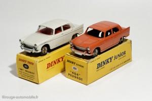 Dinky Toys 101 et 553 - Peugeot 404 berline