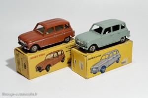 Dinky Toys 100 et 518 - Renault 4L berline