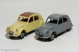 Dinky Toys 105 et 558 - Citroën 2CV Azam