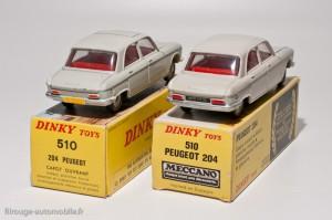 Dinky Toys 510 - Peugeot 204 berline - française et espagnole