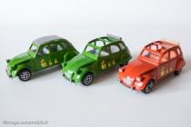 Dinky Toys Solido 1401 - Citroën 2CV - 2 variantes, 2 couleurs