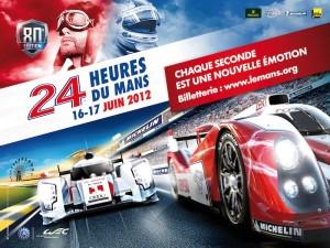 Affiche 24 heures du Mans 2012