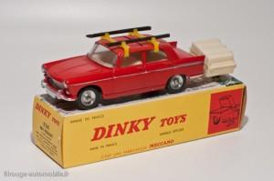 Dinky Toys 536 - Peugeot 404 et remorque monoroue