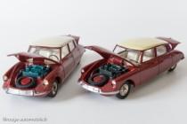 Dinky toys 530 - Citroën DS19 modèle 1963 - modèle d'origine et copie Dinky Atlas à droite