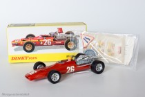 Dinky Toys 1422 - Ferrari 3L. F1 - décalques, aileron et panneau dans sachet d'origine