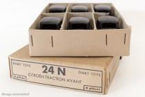 Dinky Toys 24N - Citroën Traction avant 11BL - Boite détaillant de 6 pièces