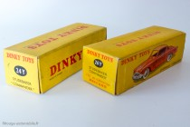 Dinky Toys 24Y - Studebaker Commander coupé - les 2 types de boite