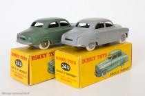 Dinky Toys 24U - Simca Aronde berline, grise et verte