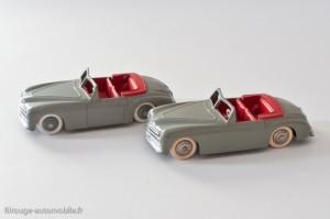 Dinky Toys 24S - Simca 8 Sport - pare-brise mince - 2 types de roues