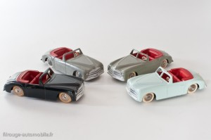 Dinky Toys 24S - Simca 8 Sport - 3 versions différentes