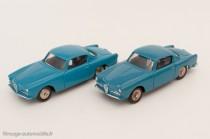 Dinky Toys 24J - Alfa Romeo 1900 Super Sprint coupé - jantes convexes et concaves - nuances de bleu