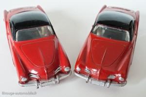 Dinky Toys 24M - Volkswagen Karmann Ghia coupé - avant bombé et plat