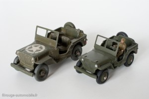 Dinky Toys 24m - Jeep US army et Jeep 80B