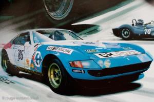 Ferrari 365 GTB/4 Daytona 24 heures du Mans 1972 - extrait d'affiche