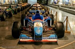 La salle des Formule 1 - Manoir de l'automobile de Lohéac