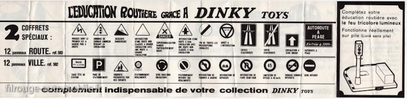 Dinky Toys - Publicité pour les panneaux de signalisation offerts