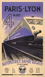 Autorail Bugatti - Affiche d'époque