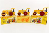 Dinky Toys 90 A et 830 - Richier rouleau compresseur -  2 coffrets et 1 boite souple.