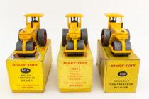 Dinky Toys 90A et 830 - Richier rouleau compresseur - 3 types de boite