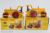 Dinky Toys 90 A et 830 - Richier rouleau compresseur - coffret et boite souple.
