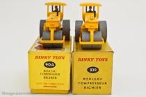 Dinky Toys 90A et 830 - Richier rouleau compresseur