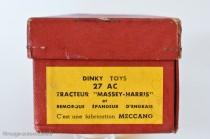 Dinky Toys 27AC - Massey Harris tracteur et épandeur d'engrais anglais en coffret français