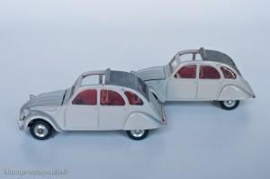 Dinky Toys 500 - Citroën 2CV 1966 - fabriqué en Espagne (volant noir) et France (volant blanc)