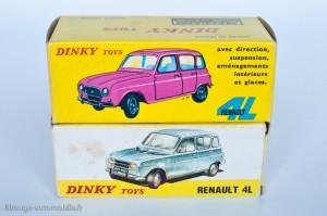 Dinky Toys 518 - Renault 4L - fabriqué en Espagne, deux types de boite.