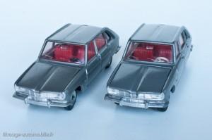 Dinky Toys 537 - Renault 16 berline - modèles fabriqués en Espagne (volant noir) et en France