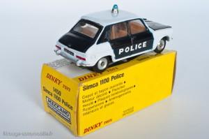 Dinky Toys 1450 - Simca 1100 Police - modèle fabriqué en Espagne