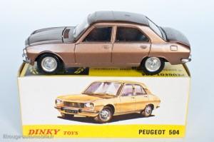 Dinky Toys 1452 - Peugeot 504 berline - modèle fabriqué en Espagne