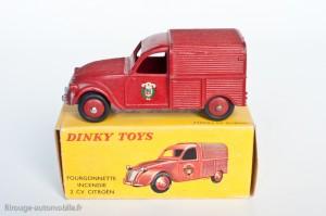 Dinky Toys 25D - Citroën 2CV fourgonnette incendie