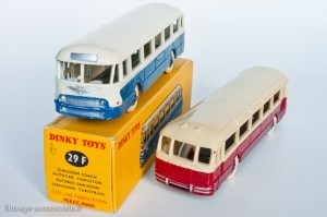 Dinky Toys 29F - Chausson autocar - les deux couleurs