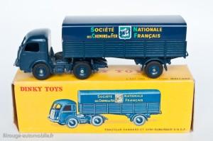 Dinky Toys 575 - Panhard semi-remorque SNCF - 4ème variante - Jantes concaves