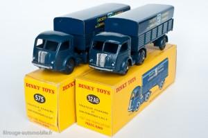 Dinky Toys 32AB et 575 - Panhard semi-remorque SNCF - Jantes concaves et convexes
