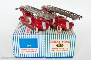 Dinky Toys 32D et 899 - Delahaye pompier grande échelle