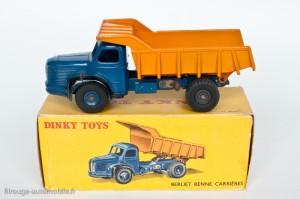Dinky Toys 580 - Berliet benne carrière - 2ème boite - roues concaves