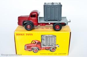 Dinky Toys 34B - Berliet porte container - 2ème version: crochet moulé et boite illustrée