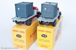 Dinky Toys 34B - Berliet porte container - 1ère et 2ème versions