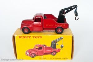 Dinky Toys 582 - Citroën U23 camion de dépannage - 3ème version petite caisse à outil et roues concaves
