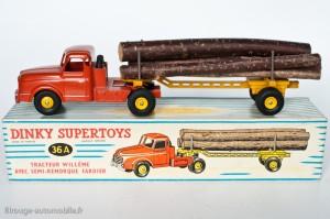 Dinky Toys 36A - Willeme semi-remorque fardier - 1ère version, poutre ajourée, longerons droits