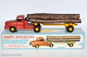 Dinky Toys 896 - Willeme semi-remorque fardier - 2ème version, poutre pleine, longerons inclinés